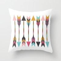 Bohemian Arrows Throw Pillow