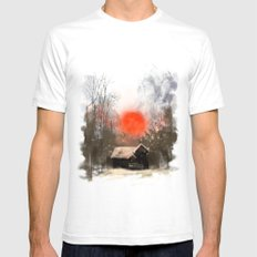 Winter Landscape Mens Fitted Tee SMALL White