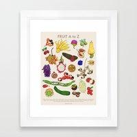Bizarro Fruit - A To Z P… Framed Art Print