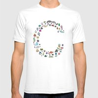 letter c - sea creatures Mens Fitted Tee White SMALL