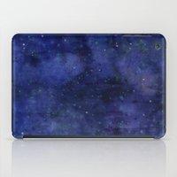 Galaxy Watercolor Texture Night Sky Stars iPad Case