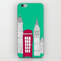 Capital Icons // London Red Telephone Box iPhone & iPod Skin