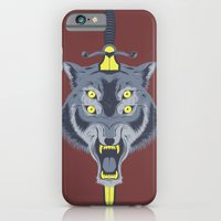 iPhone Cases featuring Wolf Head by Eyes Wide Awake