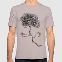 Flower Mens Fitted Tee Cinder SMALL