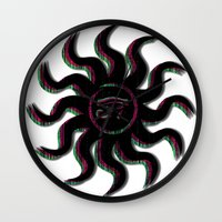 Purple Egyptian Sun Wall Clock