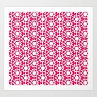 Zoutman Neon Pink Patter… Art Print