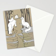 Arctic fox and Polar bear, Romeo and Juliet Stationery Cards