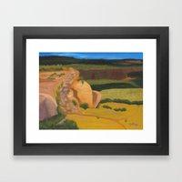 Horsethief Bench Framed Art Print