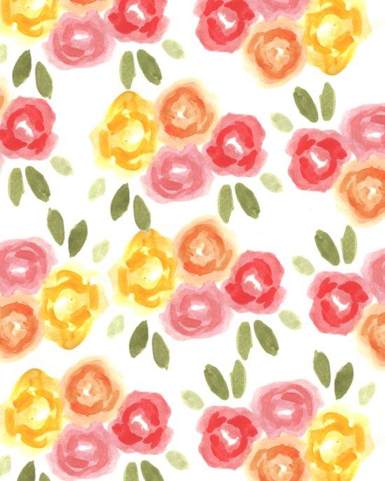 Vintage Florals Art Print