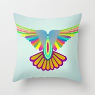 Wings Let's Fly! Throw Pillow
