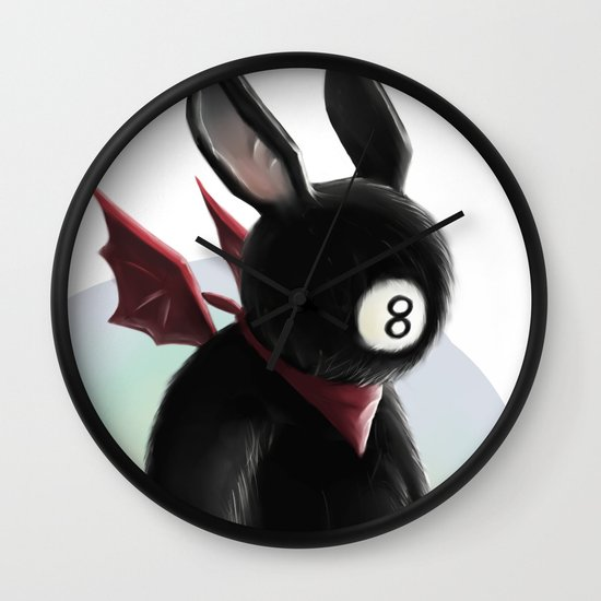 Eightball demon Wall Clock