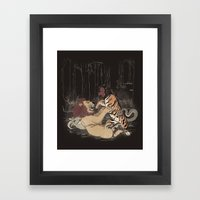 The Chimera Fight Framed Art Print
