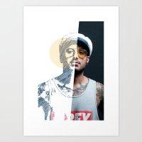Mitades #01 Art Print