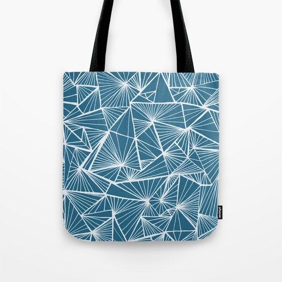 Triangular Texture - Reverse Blue Tote Bag