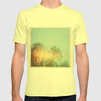 Winter Trees Mens Fitted Tee Lemon SMALL