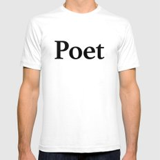 Poet SMALL Mens Fitted Tee White