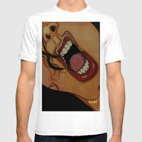 Scream Mens Fitted Tee White SMALL