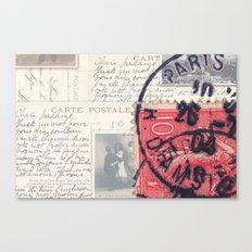 Postale Paris Canvas Print