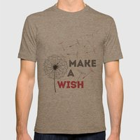 Make a wish red Mens Fitted Tee Tri-Coffee SMALL