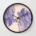 Dark tulip Wall Clock