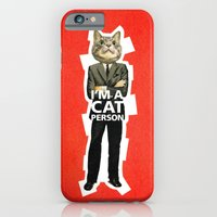 iPhone & iPod Case featuring Cat Person by Prince Arora