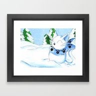 Snowcat Framed Art Print