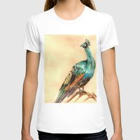 peacock T-shirts featuring Peacock by Goosi