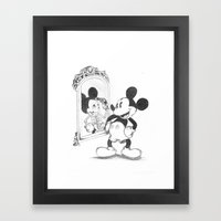 Mikey Mouse Framed Art Print