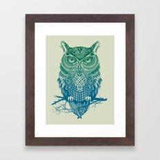 Warrior Owl Framed Art Print