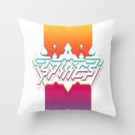 Throw Pillow featuring Spires : Crystyl Cystlys… by Spires