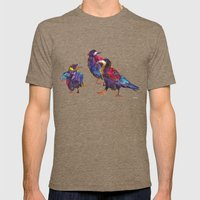 Ugly birds Mens Fitted Tee Tri-Coffee SMALL