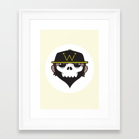 A Wicked Gentleman Framed Art Print