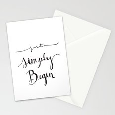 Simply Begin Stationery Cards
