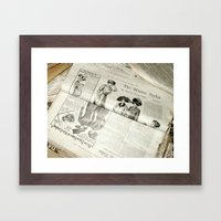 Old Vintage Newspaper Le… Framed Art Print