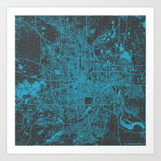 Minneapolis Blue Art Print