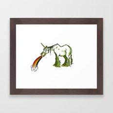 A Unicorn  For Drunks Framed Art Print