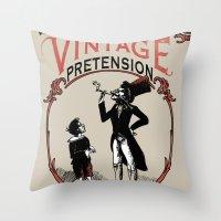 Ye Oldé Vintage Pretens… Throw Pillow