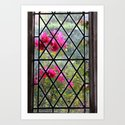 Stained glass window by nature Art Print