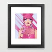Strawberry Milkshake Gir… Framed Art Print