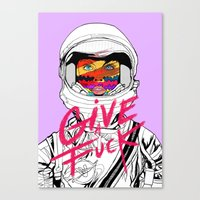 Give A Fuck Canvas Print