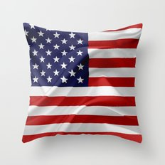 The Flag Of The United S… Throw Pillow