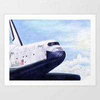Enterprise Through The C… Art Print