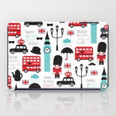 London icons illustration pattern print iPad Case