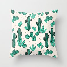 Cactus by Andrea Lauren Throw Pillow