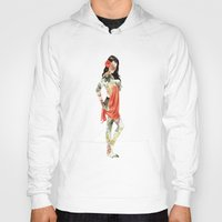 Floral Pin Up Girl Hoody