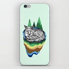 Snuggly fox iPhone & iPod Skin