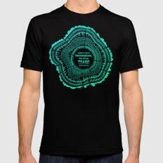 My List – Turquoise Ombré Mens Fitted Tee Black SMALL