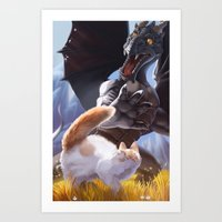 Startled Art Print