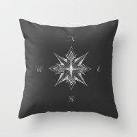 Compass II Throw Pillow