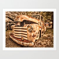 Old Pickup ( Photo By An… Art Print